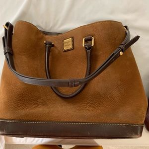 Downey and Bourke suede bag